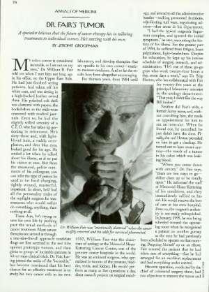 Dr  Fair's Tumor | The New Yorker